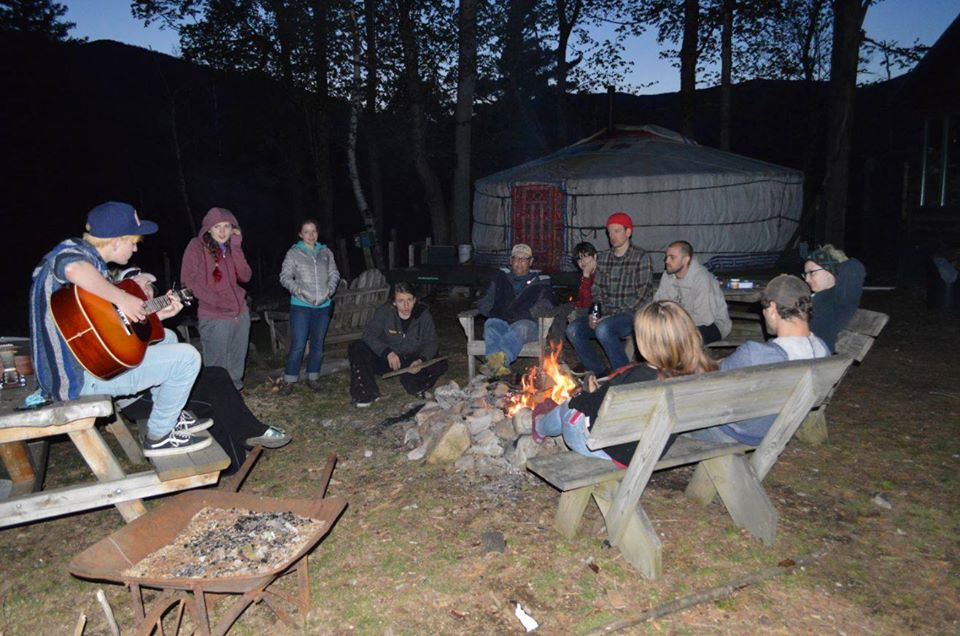 Big Picture Kids around the campfire