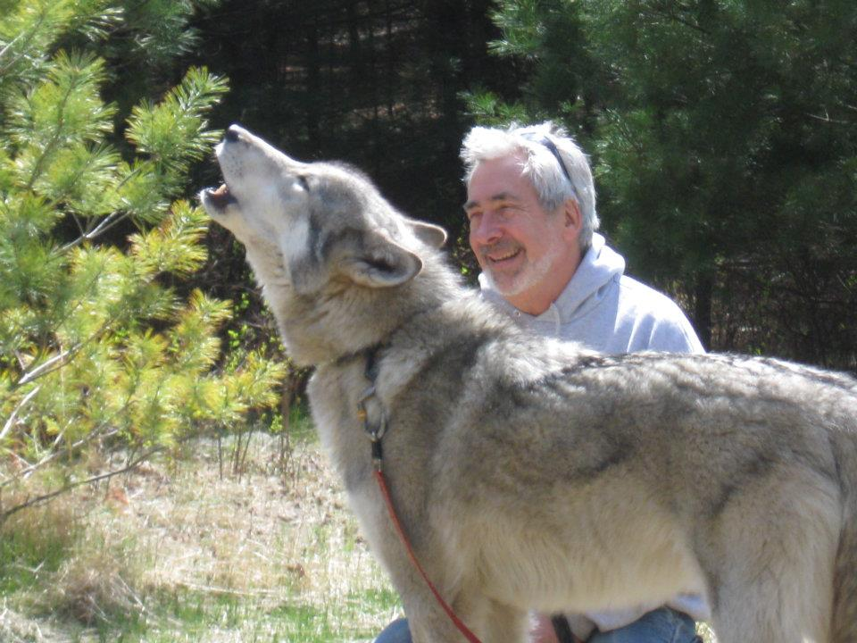 Steve with Cree in the wolf meadow