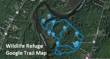 Wildlife Refuge Trail Map Google by Anna Dieffenbach