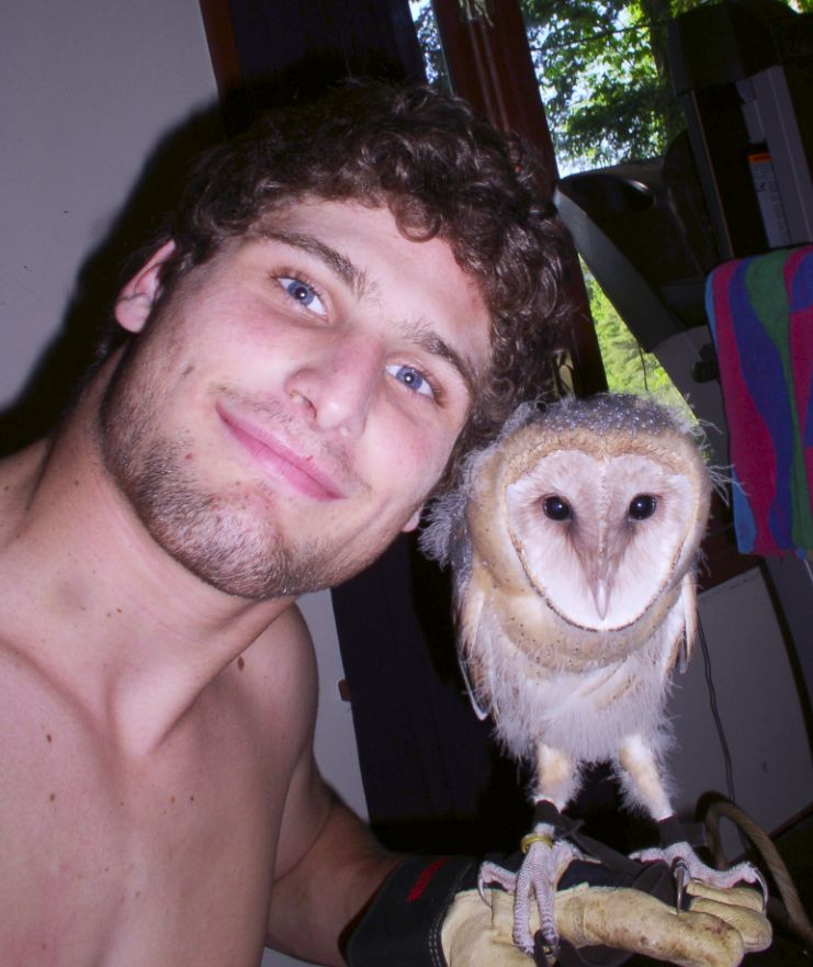 Tyton, Female Barn Owl, with Alex