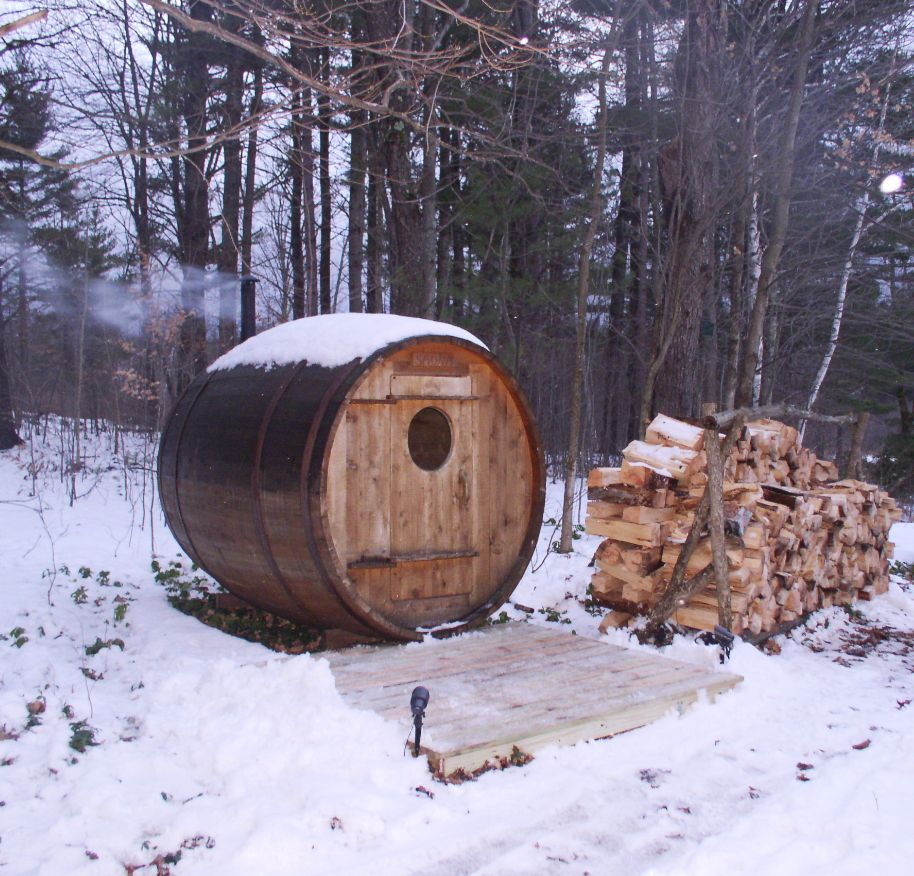 Wood fire sauna