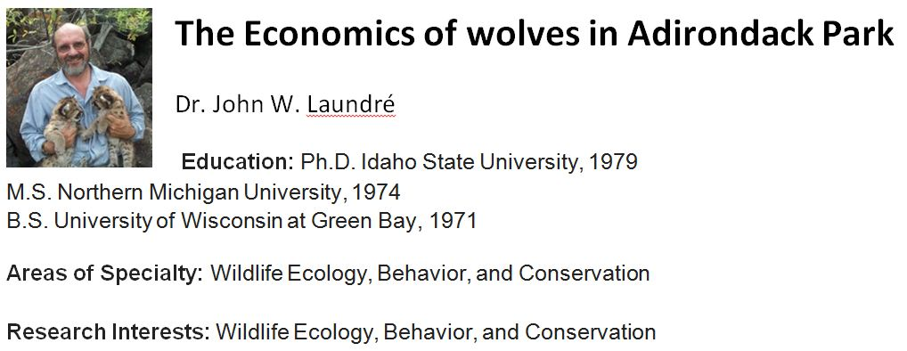 Economic Value of Wolves to the adirondacks